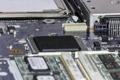 Laptop circuit board selective focus royalty free stock image