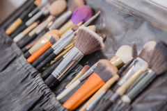 Selective focus of Make up brush stock photography