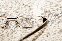 Selective focus on map of Chicago Stock Photo