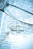 Selective focus on map of USA Royalty Free Stock Photos