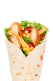 Chicken wrap Royalty Free Stock Photos