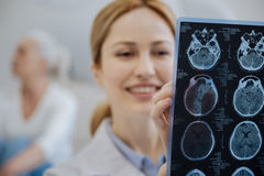 Selective focus of a MRI scan Royalty Free Stock Image