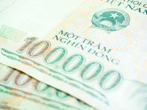 Selective Focus one hundred thousand banknote Royalty Free Stock Photo
