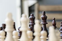 Selective Focus Photo of Chess Set Stock Images