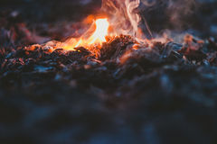 Selective Focus Photo of Fire during Night Time Stock Photography