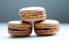 Selective Focus Photo of Three Macaroons Royalty Free Stock Photography