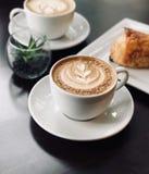 Selective Focus Photo of White Ceramic Mug on Saucer Filled With Espresso stock photos