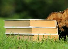 Selective Focus Photography of 3 Book Piled Stock Photography