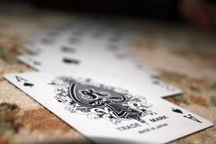 Selective Focus Photography of Ace of Spade Playing Card Royalty Free Stock Photo