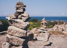 Selective Focus Photography of Balance Rock stock images