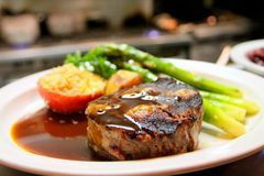 Selective Focus Photography of Beef Steak With Sauce Stock Photo