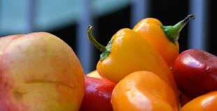 Selective Focus Photography of Bell Pepper Royalty Free Stock Photography