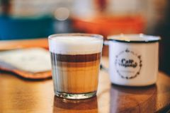 Selective Focus Photography of Cappuccino Coffee Royalty Free Stock Photo