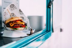Selective Focus Photography of Cooked Burger Royalty Free Stock Photography