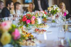 Selective Focus Photography of Flower on Table royalty free stock photography