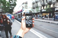 Selective Focus Photography of Iphone Stock Image