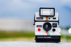 Selective Focus Photography of Polaroid Land Camera Stock Image