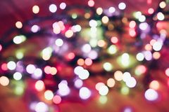 Selective Focus Photography of String Lights Stock Images