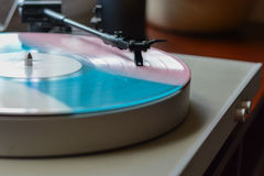 Selective Focus Photography of Vinyl Disc Player Stock Image