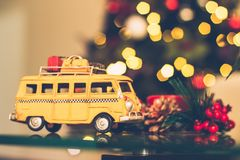 Selective Focus Photography of Yellow Vehicle Scale Model Royalty Free Stock Photography