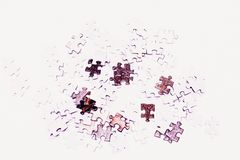 Selective focus of pieces puzzle jigsaw royalty free stock photo