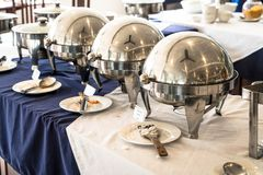 Selective focus point on Buffet catering for breakfast Royalty Free Stock Photo