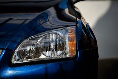 Headlight lamp car. Selective focus point on a headlight lamp car Royalty Free Stock Image