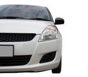Selective focus point on Headlight lamp white car  Royalty Free Stock Photos