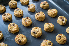Selective focus with shallow depth of field on home made cookies Royalty Free Stock Photography