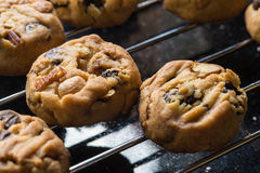 Selective focus with shallow depth of field on home made cookies Royalty Free Stock Image