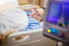 Selective focus to patient in hospital royalty free stock images