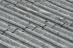 SELECTIVE FOCUS TO ZINC METAL ROOF Royalty Free Stock Images