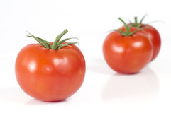 Selective Focus on a Tomato Royalty Free Stock Images