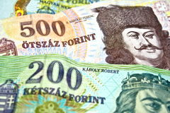 Selective focused Hungarian forints Stock Photos