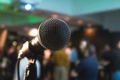 Selective Photography of Black Microphone Royalty Free Stock Photos