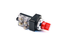Selector Switch. With white background Stock Photo