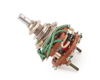 Selector Switch. On white background Stock Photography