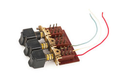 Selector Switch. On white background Stock Photo