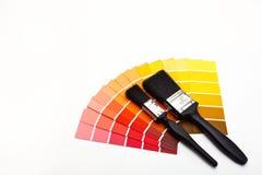 Selectores rojos y amarillos del color Imagen de archivo libre de regalías