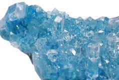 Seledynu klejnotu geody geological kryształy Fotografia Royalty Free