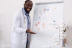 Selekcyjna ostrość DNA model Obrazy Royalty Free
