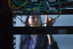 Selekcyjna ostrość internetów druty Fotografia Stock