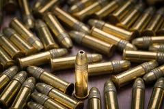 Selekcyjna ostrość na pojedynczym 22 kaliberze rimfire Zdjęcia Royalty Free