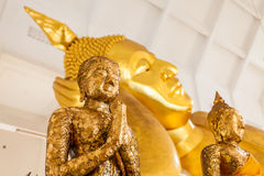 Selekcyjnej ostrości punkt na Buddha statui w Tajlandia Zdjęcia Royalty Free