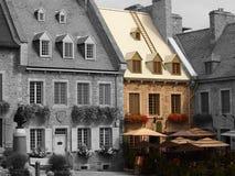Selektiv färgbyggnad Arkivfoto