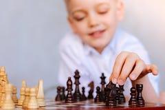 Selektiv fokus av ett schackstycke Arkivbilder