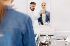 Selektiv fokus av instrument för kosmetisk kirurgi Fotografering för Bildbyråer