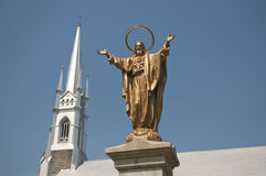 Jesus und die Kirche Lizenzfreie Stockfotos