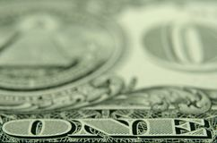 Selektiver Fokus des Wortes 'EINS 'von einer US-Schatzanweisung lizenzfreie stockbilder