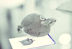Selektives Laser-Schmelzen Gegenstand gedruckt auf Drucker clos des Metall 3d lizenzfreies stockfoto